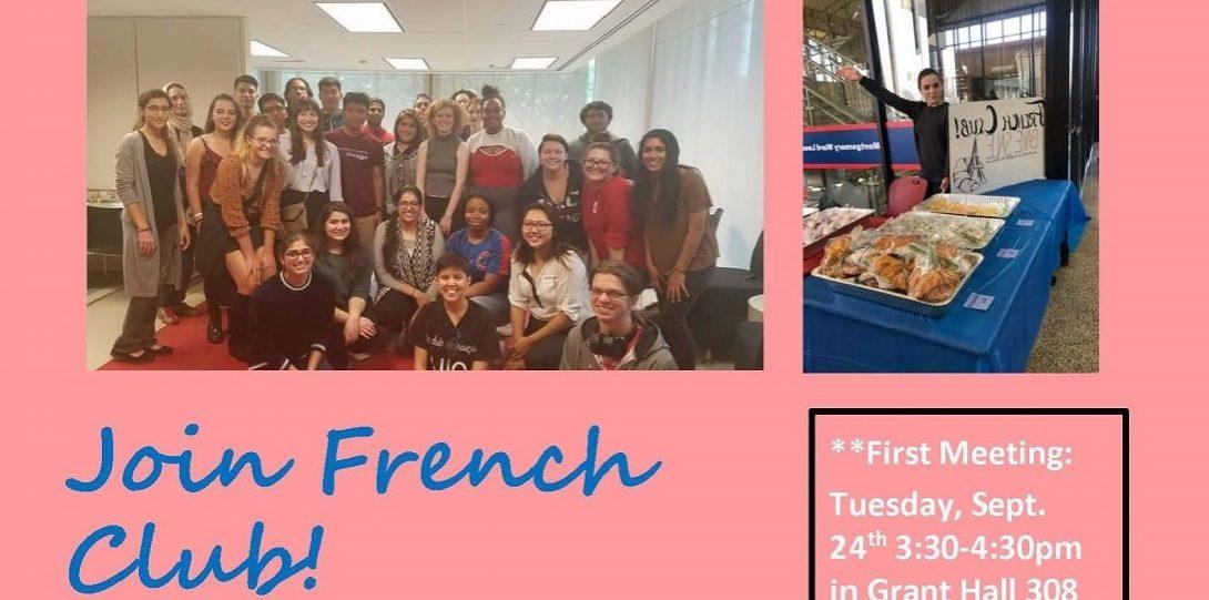 French Club flier