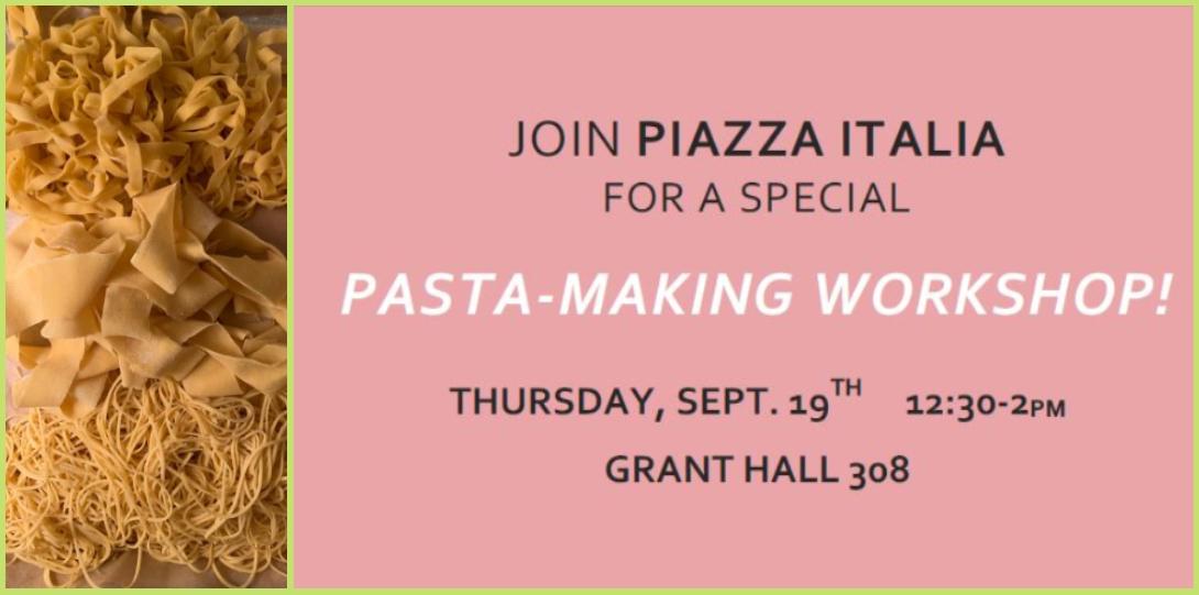 Piazza Italia Pasta-Making Flier