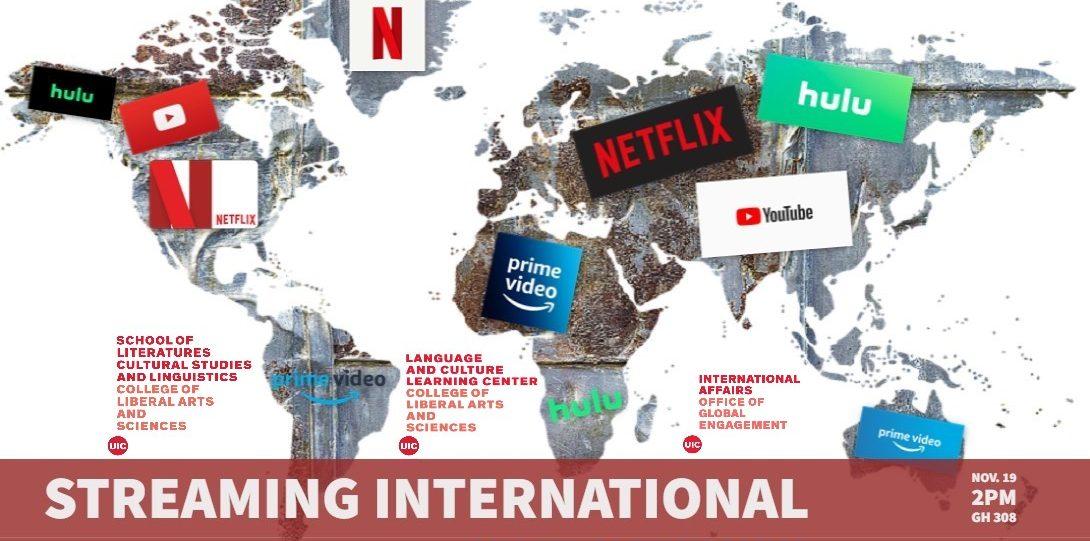 Mercator map with streaming logos