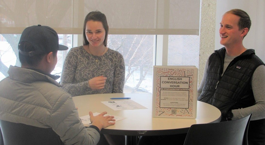 Students at English Conversation Hour