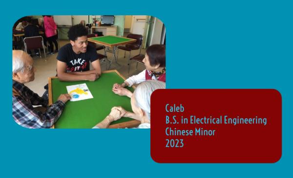 Caleb conversing in Chinese