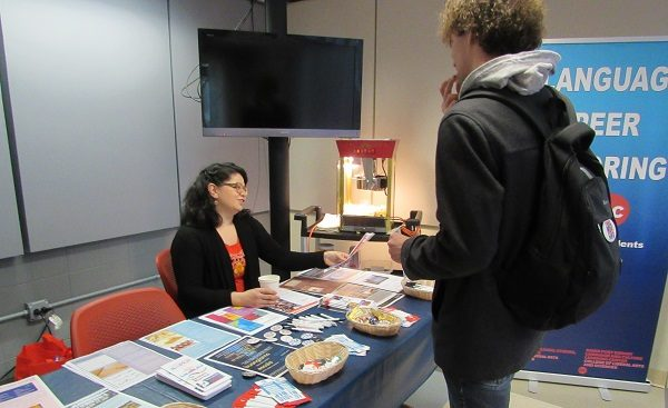 LCLC RA handing out LCSL information