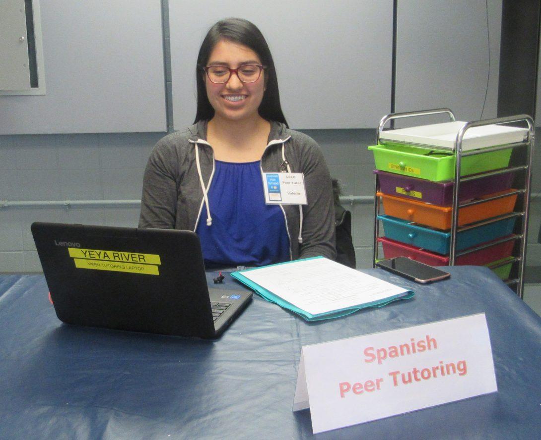 Valeria at Spanish peer tutoring