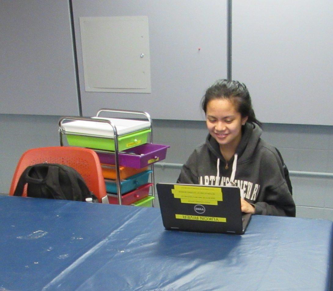 Ella at peer tutoring