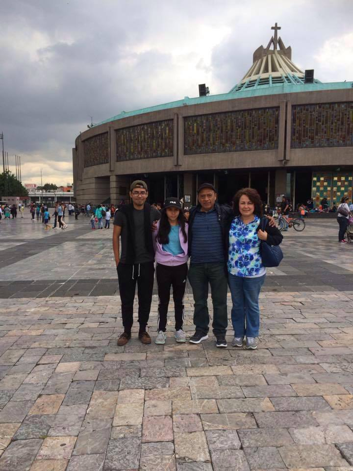 Juan's family at the Basilica of Our Lady of Guadalupe (Mexico City, CDMX, Mexico)