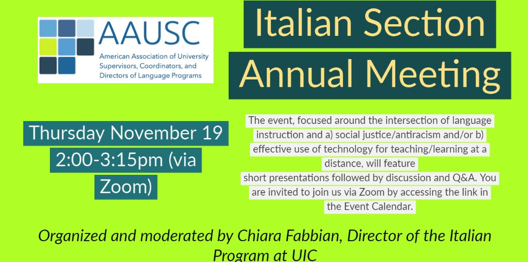 AAUSC Italian Section Meeting