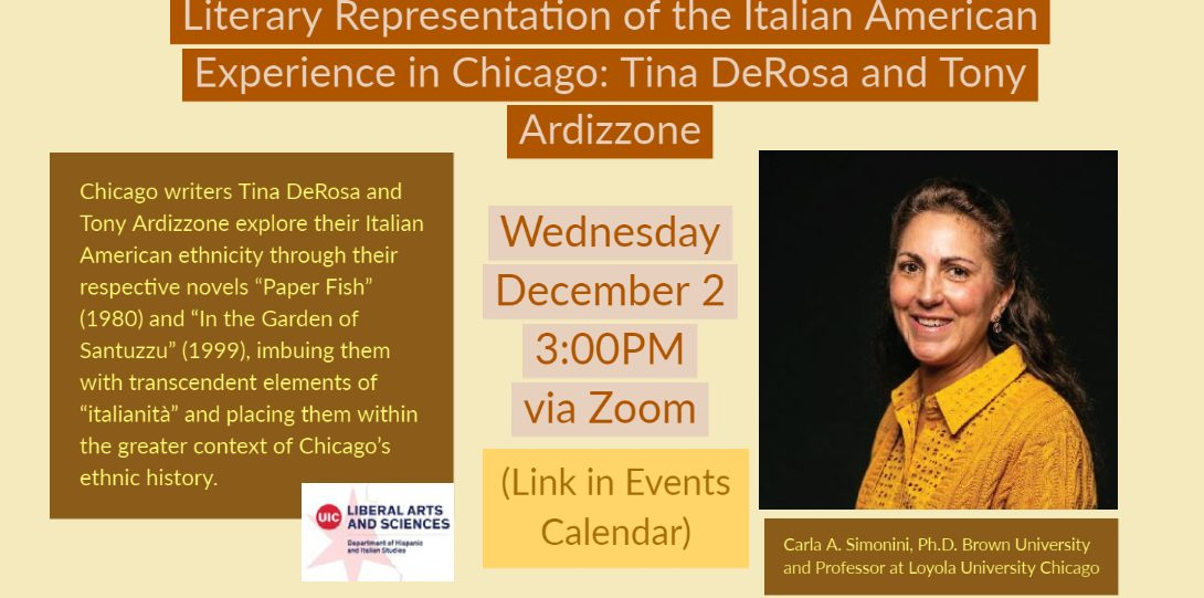Literary Representatoins of the Italian American Experience in Chicago
