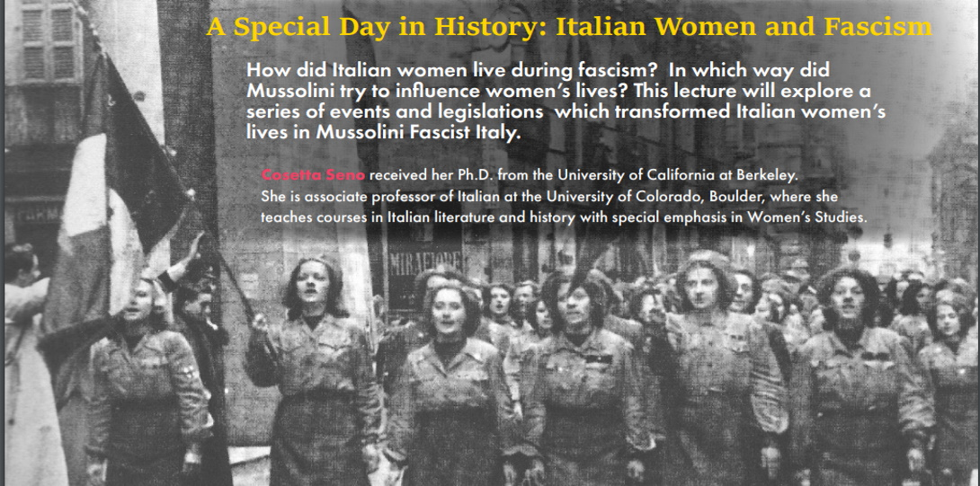 A Special Day in History: Italian Women and Fascism