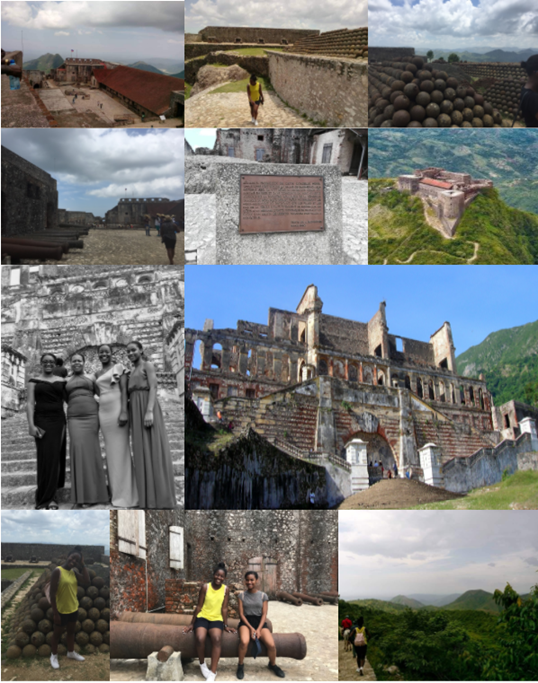Laurie at various fortresses in Haiti